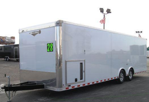 2018 28' Millennium Limited Enclosed Race Car Trailer w/Spread Axles