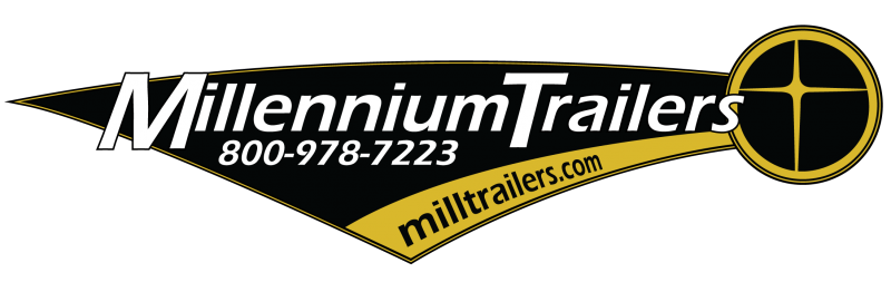 2018 28' Millennium Limited Enclosed Race Car Trailer w/Spread Axles