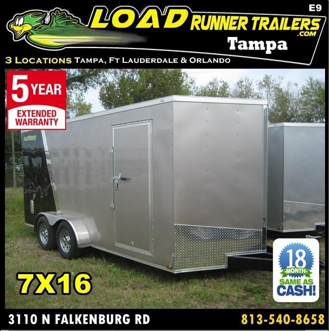 *E9* 7x16 Enclosed Trailer Cargo Tandem Axle Trailers 7 x 16 | EV7-16T3-R in Ashburn, VA