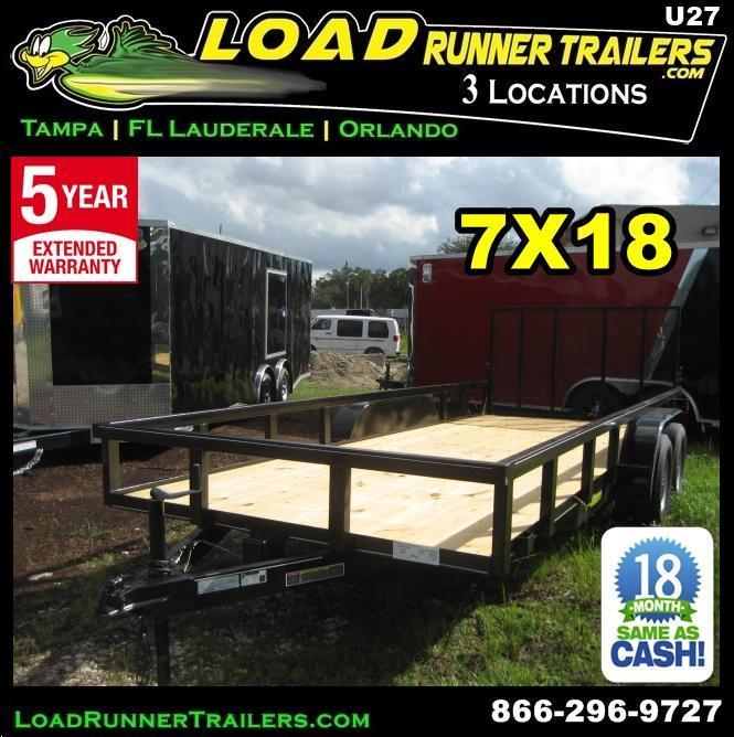 *U27* 7x18 Utility Trailer Tandem Axle Trailers 7 x 18   U82-18T3-1B-TR in Ashburn, VA