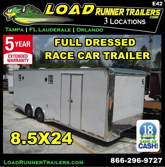 *E42* 8.5x24 Enclosed Race Car Trailer FULLY DRESSED Hauler 8.5 x 24 | EF8.5-24T5-R/RACE