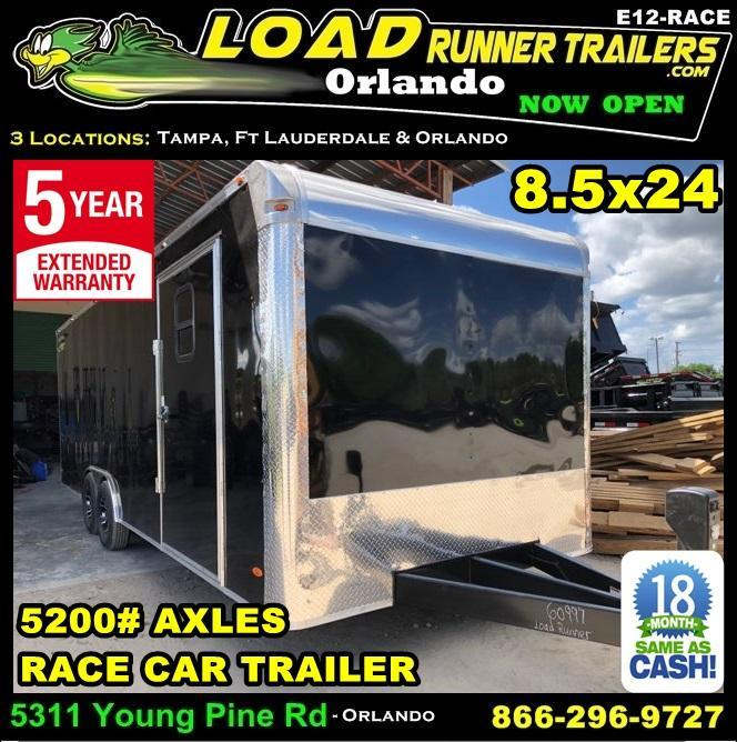 *E12-Race* 8.5x24 RACE CAR ENCLOSED CARGO TRAILER  LR TRAILERS 8.5 x 24   EV8.5-24T5-RACE