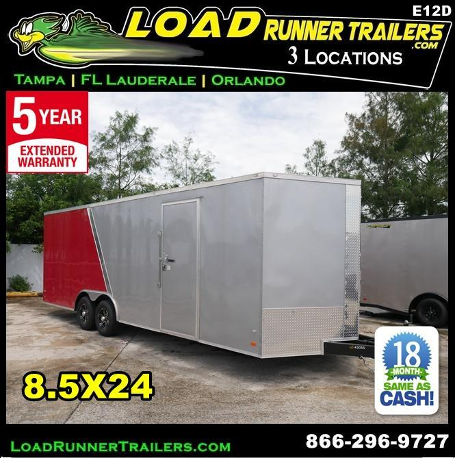 *E12D* 8.5x24 Enclosed Cargo Trailer Car Hauler Trailers 8.5 x 24 | EV8.5-24T3-R in Ashburn, VA