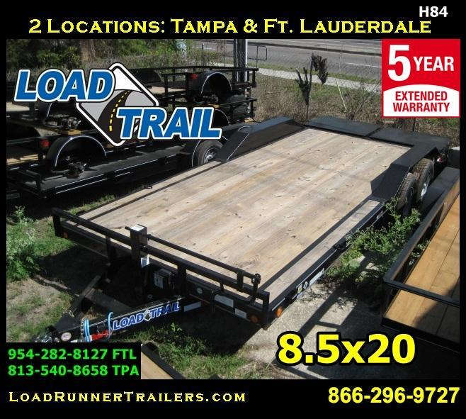 *H84* 8.5x20 Equipment Hauler Trailer Car Trailers 8.5 x 20 | EQ102-20T7-DOF