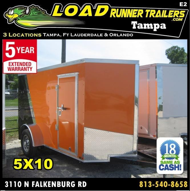 *E2* 5x10 Cargo Enclosed Trailer LR Catering Cargo 5 x 10 | EV5-10S3-R in Ashburn, VA