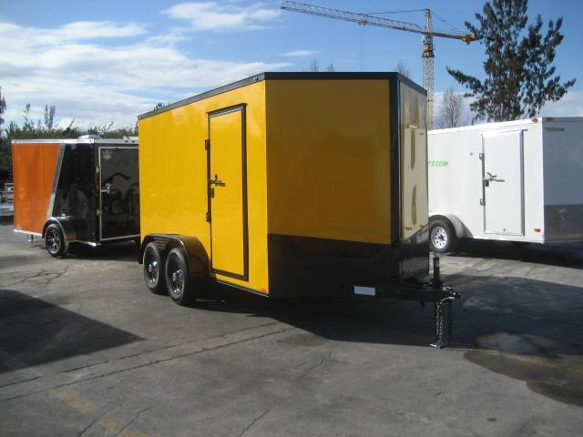 *E14* 7x12 Enclosed Cargo Trailer Tandem Axle Trailers & Haulers 7 x 12 | EV7-12T3-R