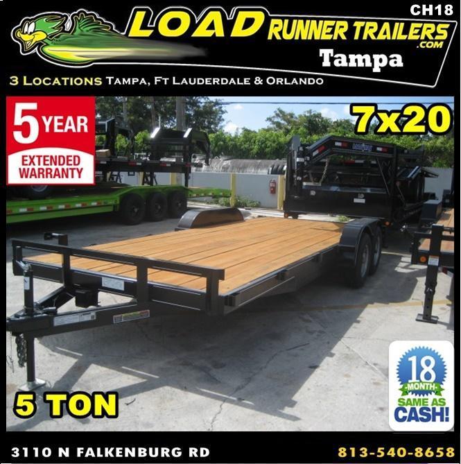 *CH18* 7x20 5 TON Car Hauler Trailer |Car Haulers & Trailers 7 x 20 | CH82-20T5-1B in Ashburn, VA