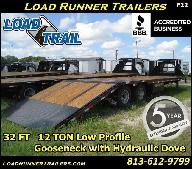 *F22* 8.5x32 Flatbed Gooseneck  Trailer 12TON Hydraulic 8.5 x 32 | FG102-32T12-LP/HYD