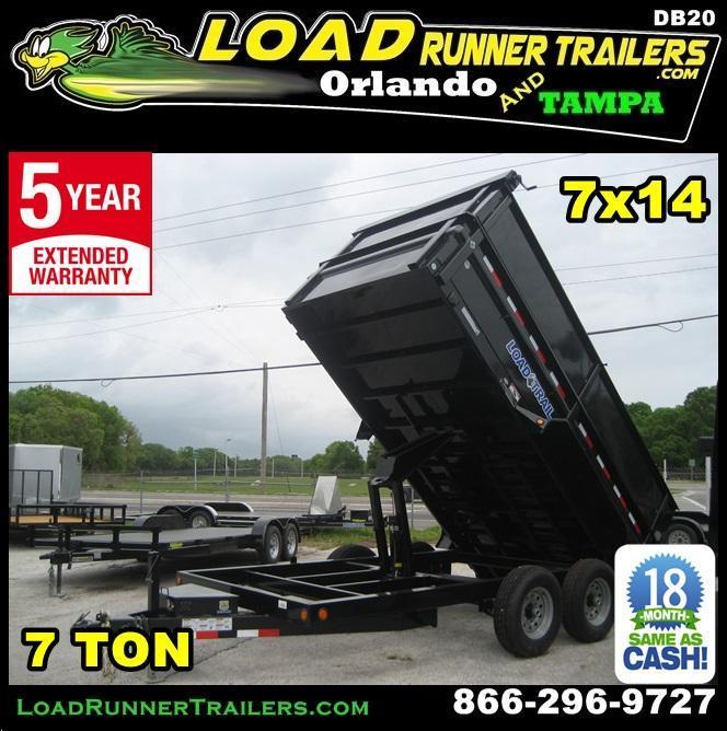*DB20* 7x14x48 7k Dump Trailer W/4Ft Sides Load Trail Trailers 7 x 14   D83-14T7-24S+24