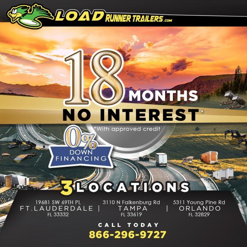 *EQ18* 7x24 10 TON Equipment & Car Hauler Trailer |LR Trailers 7 x 24 | EQ83-24TT7-KR
