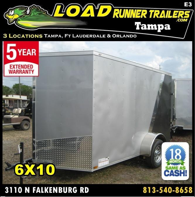 *E3* 6x10 Awesome Enclosed  Trailer BEST Cargo Trailers 6 x 10 | EV6-10S3-R in Ashburn, VA