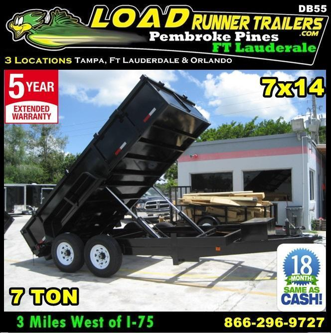 *DB55B* 7x14 7 TON Twin Piston Dump Trailer LRT Trailers 7 x 14 | D82-14T7-24S in Ashburn, VA