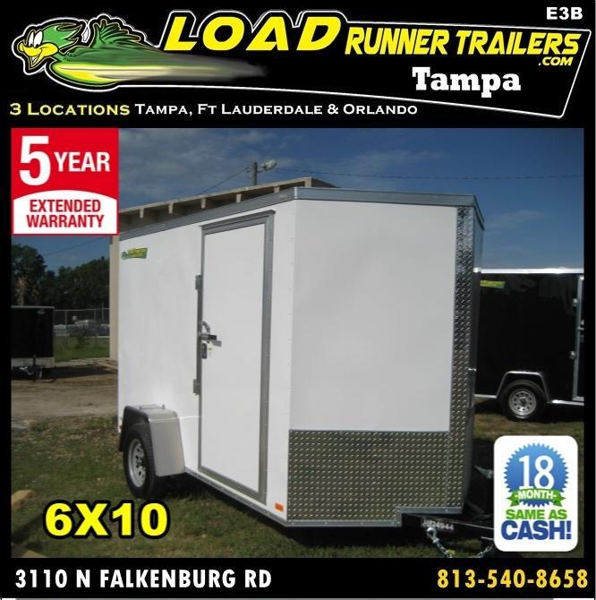 *E3B* 6x10 Enclosed Trailer Cargo L R  Lawn Trailers 6 x 10 | EV6-10S3-DD in Ashburn, VA