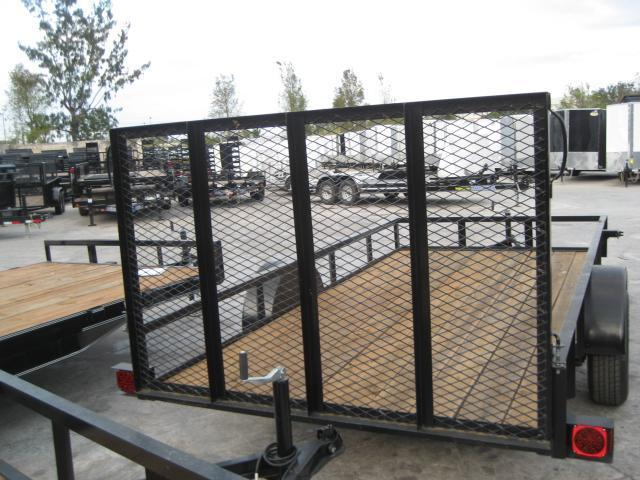 *U29* 6x12 Utility Trailer with 3500# and 4' Expanded Metal Ramp 6 x 12 | U72-12S3-AR