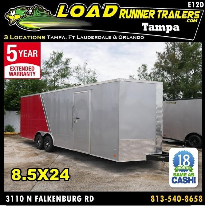 *E12D* 8.5x24 Enclosed Cargo Trailer Car Hauler Trailers 8.5 x 24   EV8.5-24T3-R in Ashburn, VA