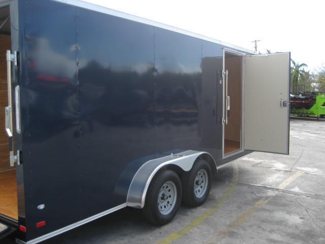 *E15* 7x18 Enclosed Cargo Trailer Tandem Axle Box 7 x 18 | EV7-18T3-R
