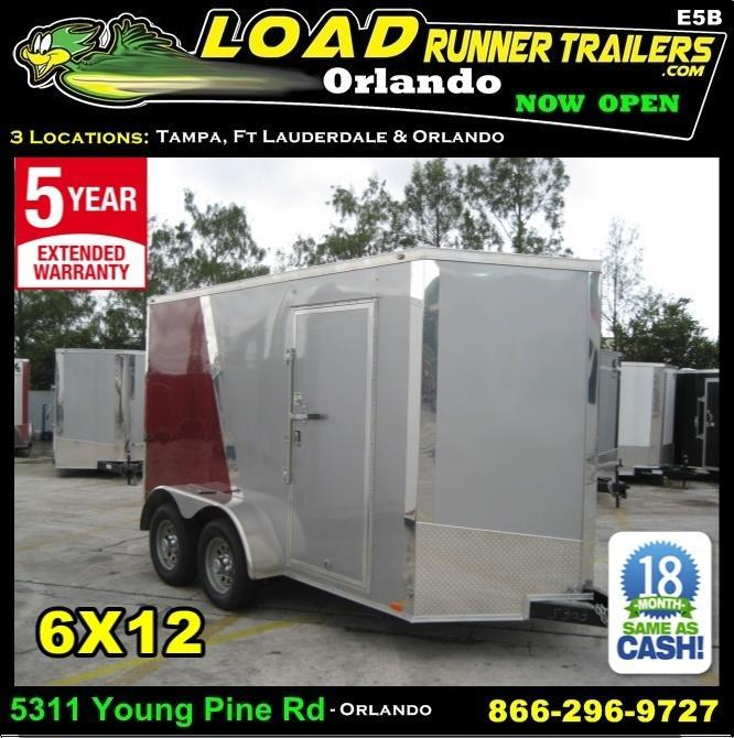 *E5B* 6x12 Enclosed Cargo Trailer Covered Box Trailers 6 x 12 | EV6-12T3-R in Ashburn, VA