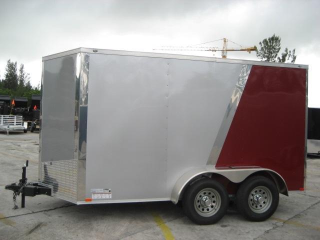 *E5B* 6x12 Enclosed Cargo Trailer Covered Box Trailers 6 x 12 | EV6-12T3-R