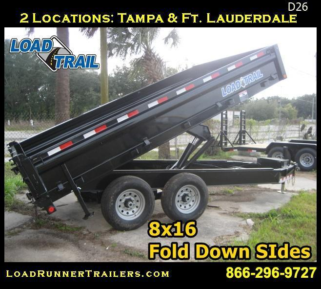 *D26* 8x14 7 TON LOAD TRAIL Dump Trailer Fold Down 8 x 14 | D96-14T7-18S