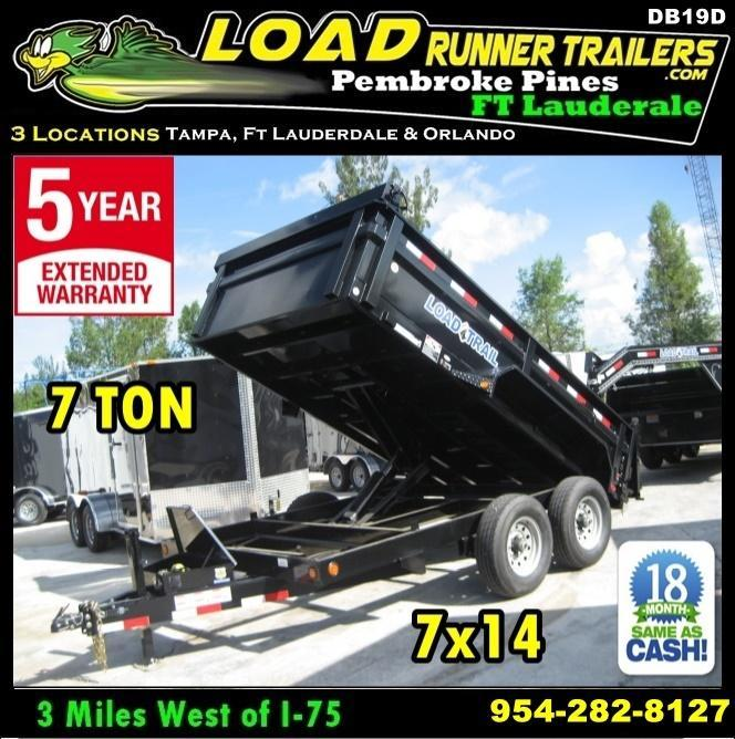 *DB19D* 7x14 7 TON Load Trail Dump Trailer |Dumps & Trailers 7 x 14 | D83-14T7-24S in Ashburn, VA