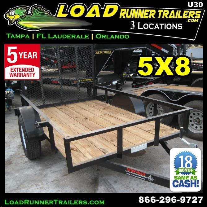 *U30* 5x8 Utility Trailer with Loading Ramp and 3500# Axle 5 x 8 | U60-08S3-AR