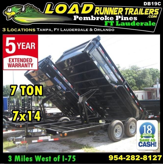 *DB19C* 7x14 Load Trail 14K Trailers Tandem Axle Dump Trailer 7 x 14 | D83-14T7-24S in Ashburn, VA