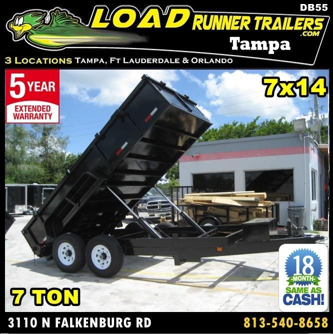 *DB55* 7x14 7 TON Twin Piston Dump Trailer LRT Dumps and Trailers 7 x 14 | D82-14T7-24S in Ashburn, VA