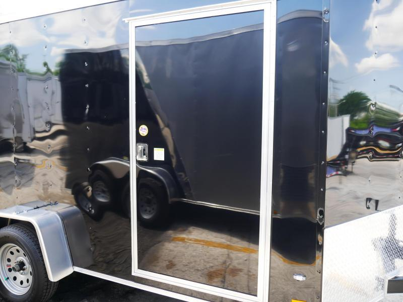 *E6* 7x12 Single Axle Enclosed Cargo Trailer 7 x 12 | EV-7-12S3-R