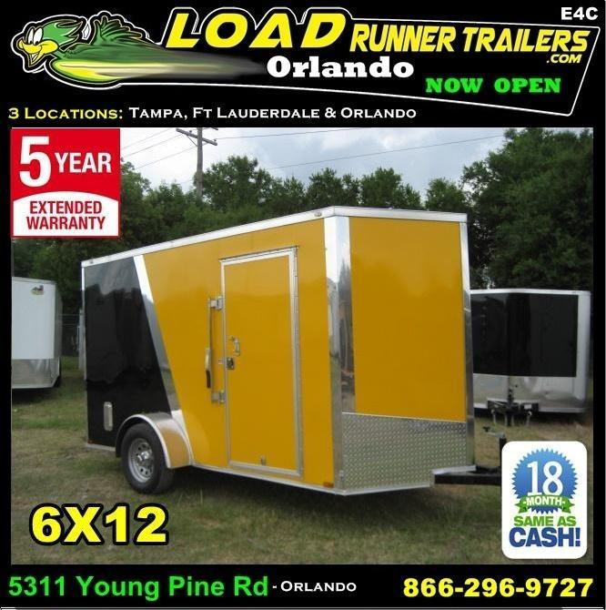 *E4C* 6x12 Cargo Enclosed Trailer  L R Painter Trailers 6 x 12 | EV6-12S3-R