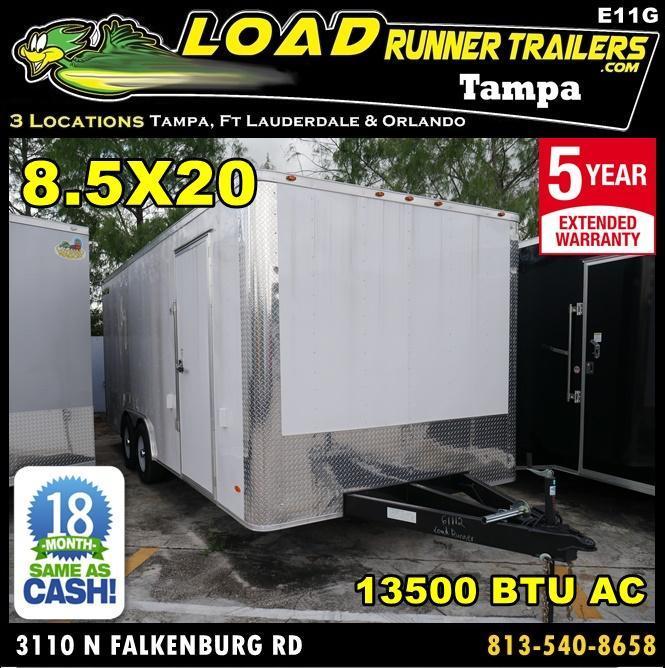 *E11G* 8.5x20 Cargo Enclosed Trailer Car Hauler W/Air Conditioning 8.5 x 20   EF8.5-20T5-R in Ashburn, VA