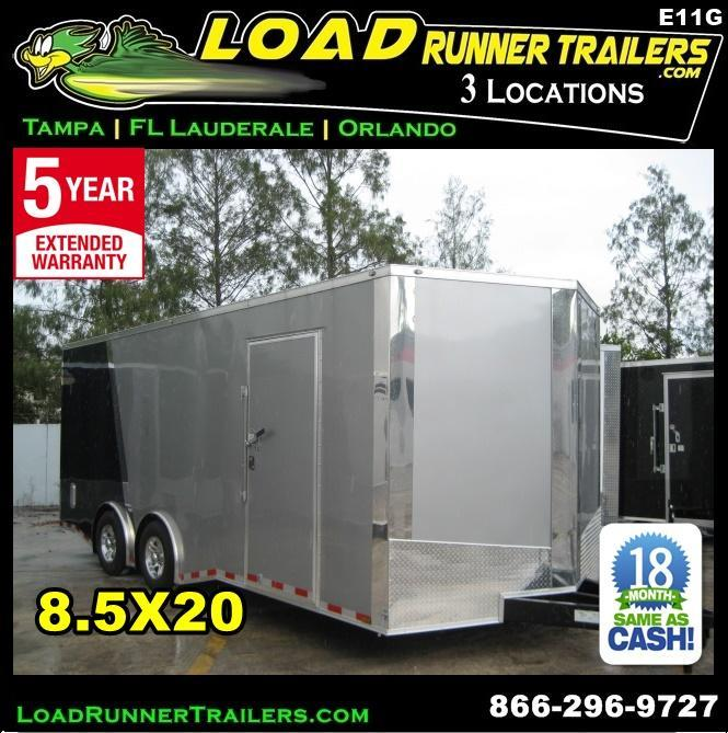 *E11G* 8.5x20 Cargo Enclosed Trailer Car Hauler 8.5 x 20 | EV8.5-20T3-R