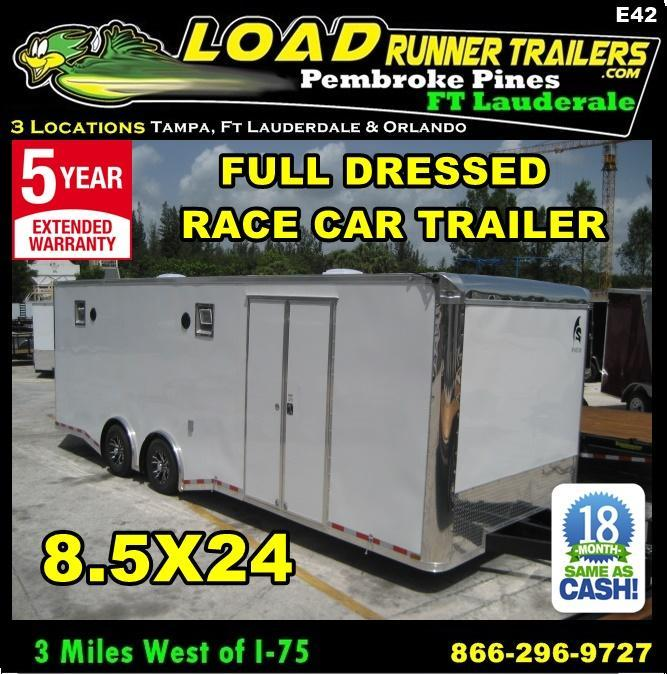 *E42* 8.5x24 Enclosed Car & Cargo Hauler 5 TON Fully Dressed | Trailers in Ashburn, VA