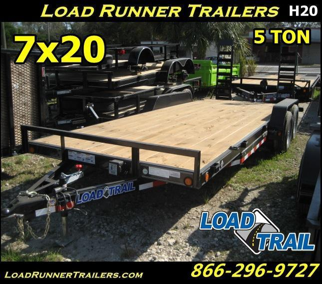 *H20* 7x20 Equipment Hauler Trailer 5 TON | Kicker Ramps 7 x 20 | EQ83-20T5-2B-KR