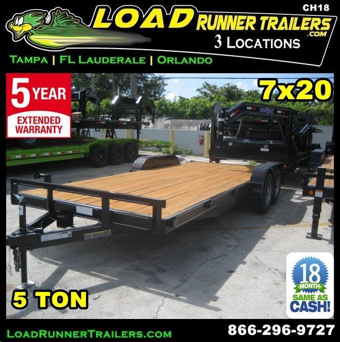 *CH18* 7x20 5 TON Haulers & Trailers Car Hauler & LR Trailer 7 x 20 | CH82-20T5-1B* 7x20 5 TON Haulers & Trailers Car Hauler & LR Trailer 7 x 20 | CH82-20T5-1B