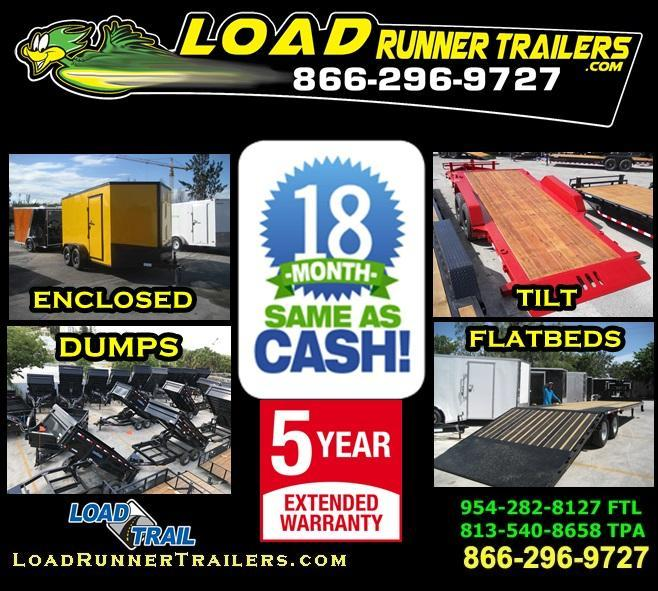 *FIN* 8.5x40 ENCLOSED DUMP FLATBED EQUIPMENT CAR TRAILER 8.5 x 40 | FINANCIAL