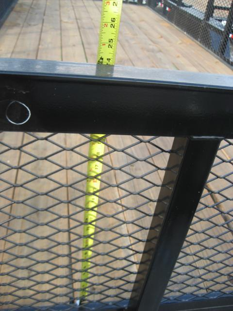 *U22* 7x20 Heavy Duty Utility Trailer w/Tandem 5200# Axles and Tube Rail 7 x 20 | U84-20T5-2B-TR/2M