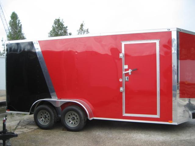 *E9B* 7x16 Enclosed Cargo Trailer Tandem Axle Hauler 7 x 16   EV7-16T3-R