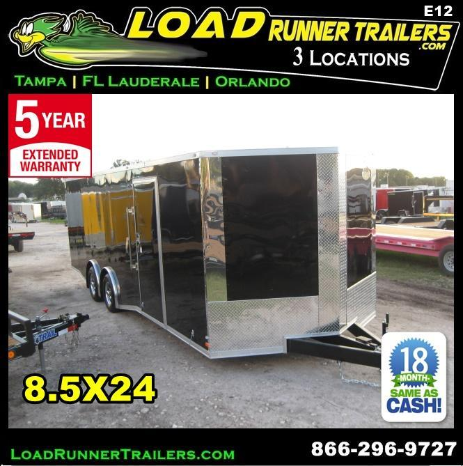 *E12* 8.5x24 Enclosed Trailer Car Cargo Hauler Trailers 8.5 x 24 | EV8.5-24T3-R in Ashburn, VA