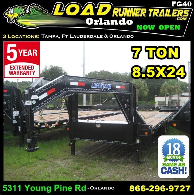 *FG40* 8.5X24 Flatbed Deck Over 7 TON Butt End 8.5 x 24 | FG102-24T7-BE