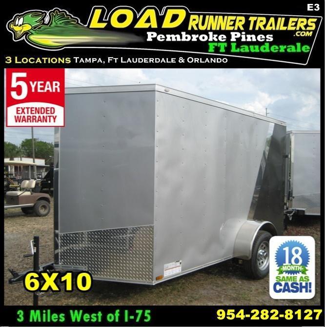 *E3* 6x10 Awesome Enclosed  Trailer BEST Cargo Trailers 6 x 10   EV6-10S3-R in Ashburn, VA