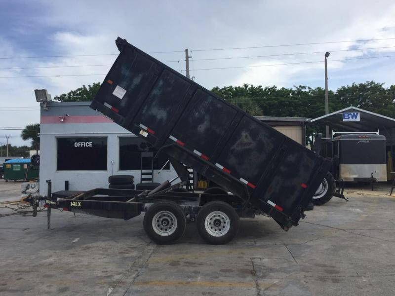 *DBU1* 7x14 7 Ton Dump Trailer W/4' Sides |Dumps & Trailers|Big Tex 7 x 14 | D83-14T7-48S