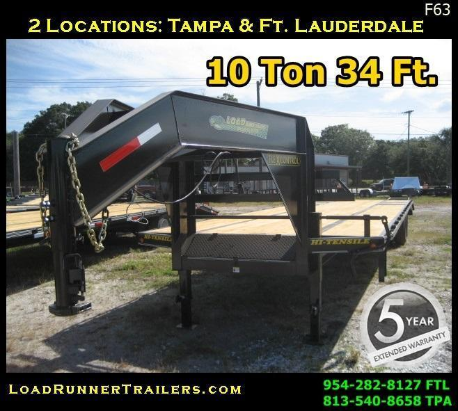 *F63* 8.5x34 Gooseneck 10-Ton Trailer Low-Pro Dove Tail 8.5 x 34   FG102-34T10-LP/FF