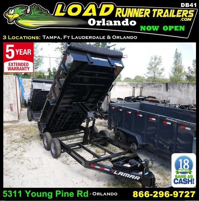 *DB41* 7x16 7 TON Dump Trailer |LAMAR Dumps & Trailers 7 x 16 | D83-16T7-LP/24S in Ashburn, VA