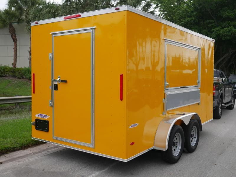 *E81* 7x14 Enclosed Cargo Concession Trailer | Tandem Axle 7 x 14 | EV7-14T3-CONS/D