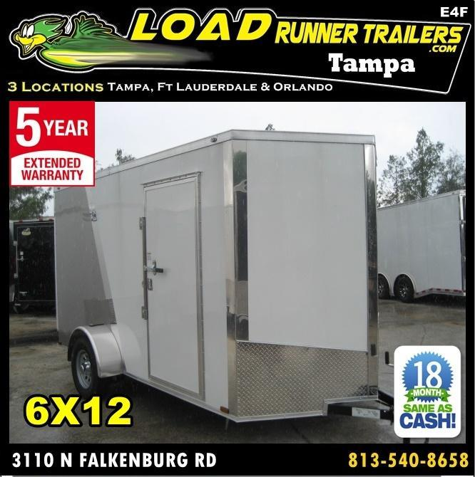 *E4F* 6x12 Enclosed Cargo Trailer Construction Trailers 6 x 12 | EV6-12S3-R in Ashburn, VA