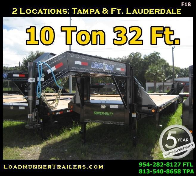*F18* 8.5x32 Gooseneck Flatbed Deck Trailer 10 TON 8.5 x 32 | FG102-32T10-MPD