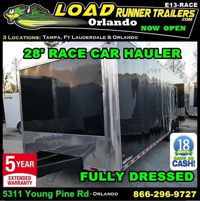 *E13-Race* 8.5x24 RACE CAR ENCLOSED CARGO TRAILER  LR TRAILERS 8.5 x 24   EV8.5-28T5-RACE