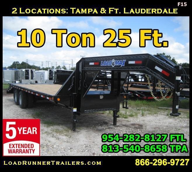 *F15* 8.5x25 Gooseneck Deck Trailer 10 TON Flatbed 8.5 x 25 | FG102-25T10-MPD