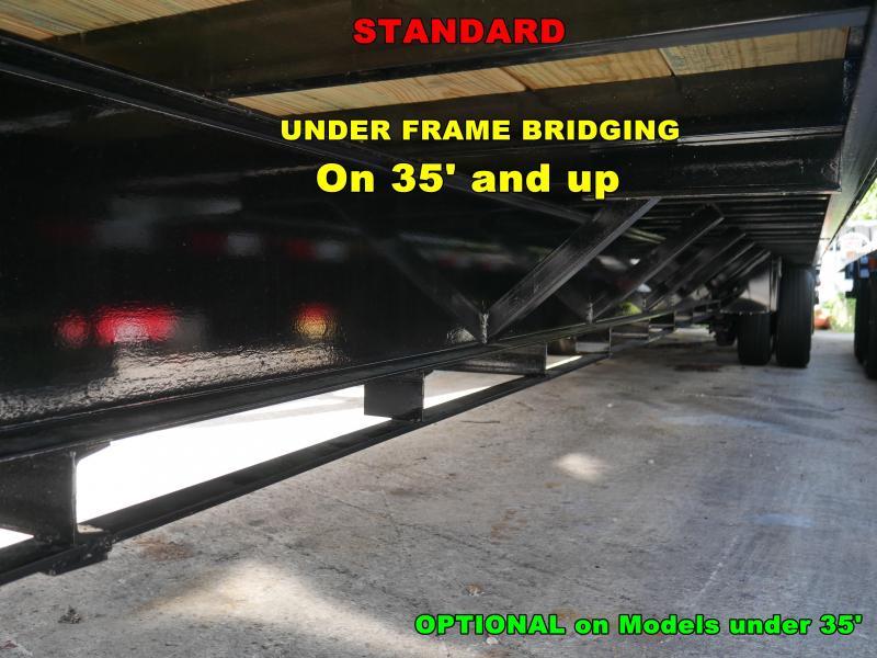 *FG50* 8.5x25 Gooseneck Deck Trailer |10 TON Flatbed Trailers 8.5 x 25 | FG102-25T10-FF