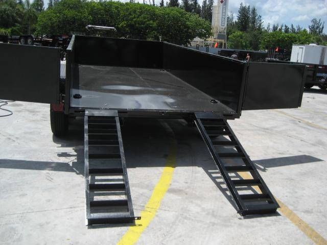 *DB55B* 7x14 7 TON Twin Piston Dump Trailer LRT Trailers 7 x 14 | D82-14T7-24S